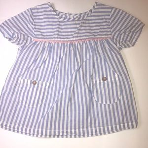 Baby girl blue stripe blouse size 24 months